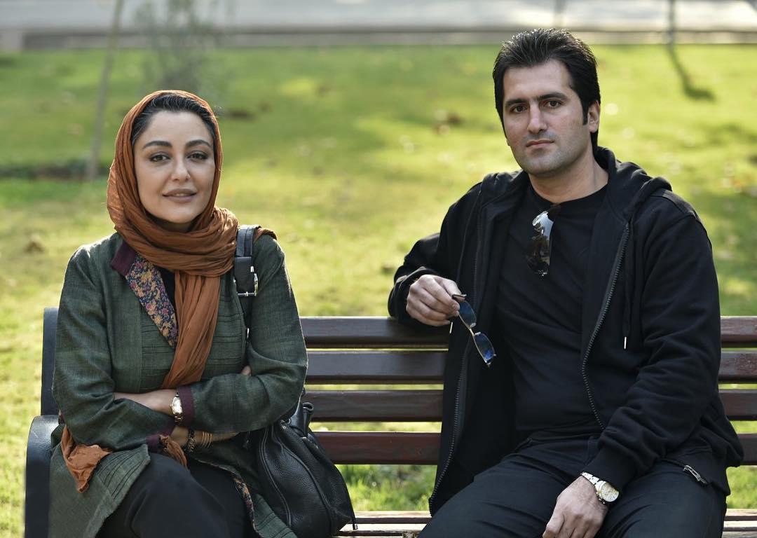 بابک نوری در پشت صحنه فیلم سینمایی آزاد به قید شرط به همراه شقایق فراهانی