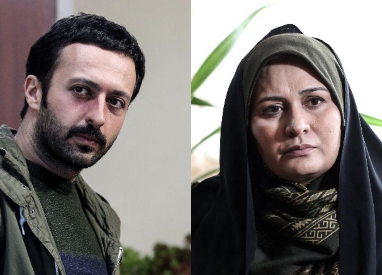 پریوش نظریه در صحنه سریال تلویزیونی دل دار به همراه حسام محمودی