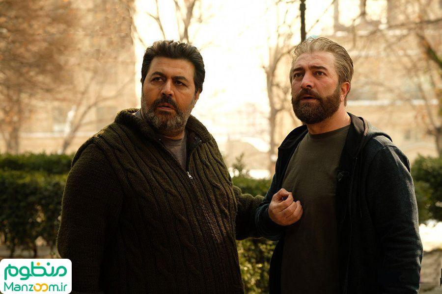 مجید صالحی در صحنه فیلم سینمایی کلمبوس به همراه فرهاد اصلانی