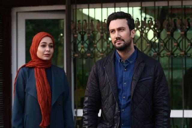 سانیا سالاری و شاهرخ استخری در سریال دلدادگان