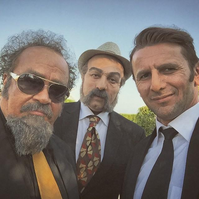 محمدرضا شریفی نیا و امین حیایی در فیلم سه بیگانه