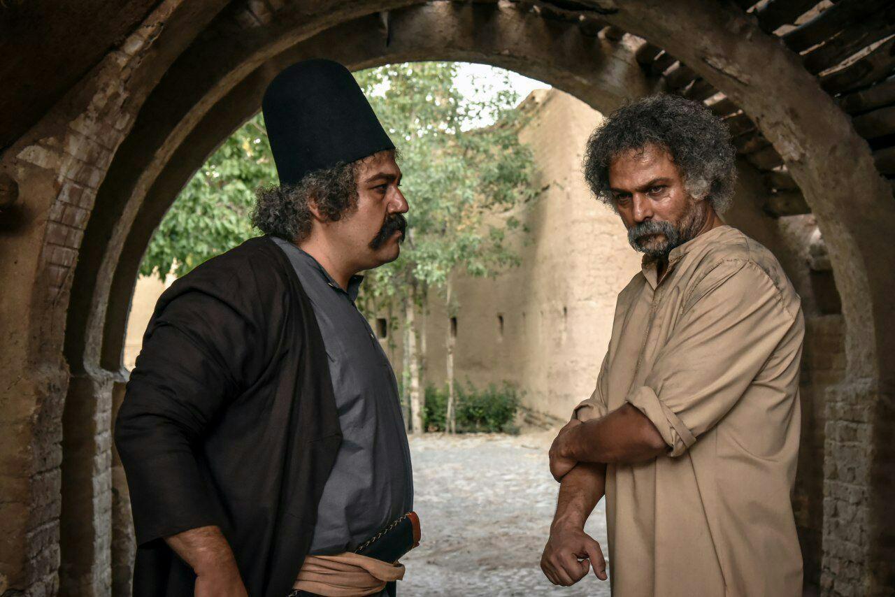 حسین یاری و مهران غفوریان در فیلم سینمایی داش آکل