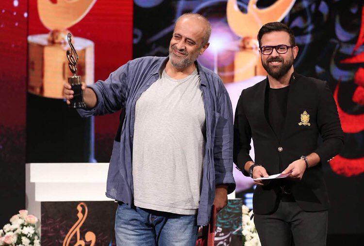 حمید نعمتالله، نویسنده و کارگردان سینما و تلویزیون - عکس جشنواره به همراه هومن سیدی