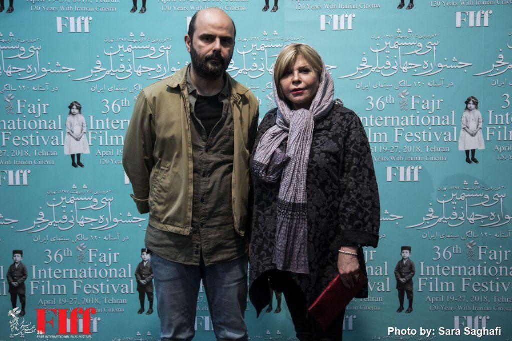 زهرا حاتمی، بازیگر سینما و تلویزیون - عکس جشنواره به همراه علی مصفا