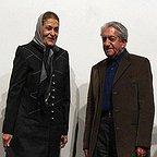 ژاله علو، بازیگر سینما و تلویزیون - عکس مراسم خبری به همراه عزتالله انتظامی