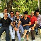 تصویری شخصی از هدایت هاشمی، بازیگر سینما و تلویزیون به همراه هومن حاجی عبداللهی و محسن تنابنده