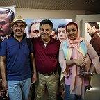 آرتمیس ورزنده، بازیگر سینما و تلویزیون - عکس اکران به همراه رضا عطاران