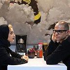 مینا ساداتی در صحنه فیلم سینمایی خرگیوش به همراه بابک حمیدیان