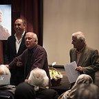خسرو سینایی، کارگردان و نویسنده سینما و تلویزیون - عکس مراسم خبری به همراه حمید فرخنژاد و اکبرعالمی