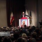 خسرو سینایی، کارگردان و نویسنده سینما و تلویزیون - عکس مراسم خبری به همراه حمید فرخنژاد