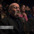 خسرو سینایی، کارگردان و نویسنده سینما و تلویزیون - عکس مراسم خبری به همراه هوشنگ گلمکانی