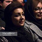 خسرو سینایی، کارگردان و نویسنده سینما و تلویزیون - عکس مراسم خبری به همراه ویدا جوان