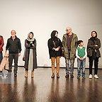 پردیس احمدیه در اکران افتتاحیه فیلم سینمایی لاک قرمز به همراه مینا ساداتی، بابک حمیدیان و مسعود کرامتی