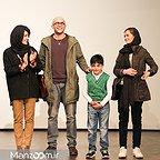 پردیس احمدیه در اکران افتتاحیه فیلم سینمایی لاک قرمز به همراه مینا ساداتی و بابک حمیدیان