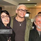 اکران افتتاحیه فیلم سینمایی لاک قرمز با حضور مسعود کرامتی، بابک حمیدیان و مینا ساداتی