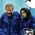 پشت صحنه فیلم سینمایی شنل با حضور باران کوثری و رضا بهبودی
