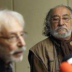 جمشید مشایخی، بازیگر و مهمان سینما و تلویزیون - عکس مراسم خبری به همراه داریوش ارجمند