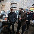 پشت صحنه فیلم سینمایی سرو زیر آب با حضور حسن نجاریان و سیدحامد حسینی