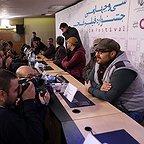 نشست خبری فیلم سینمایی ایستاده در غبار با حضور سجاد پهلوانزاده