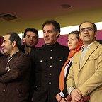 پردیس احمدیه در جشنواره فیلم سینمایی لاک قرمز به همراه محمدرضا سکوت و بهنام تشکر