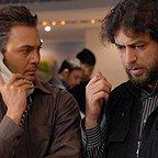 تصویری از یعقوب غفاری، تدوینگر و بازیگر سینما و تلویزیون در حال بازیگری سر صحنه یکی از آثارش