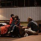 مینا ساداتی در صحنه فیلم سینمایی فروشنده به همراه بابک کریمی و سام ولیپور