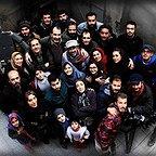 پشت صحنه فیلم سینمایی لاک قرمز با حضور محمدرضا سکوت، بهنام تشکر، پانتهآ پناهیها و پردیس احمدیه