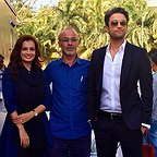 پشت صحنه فیلم سینمایی سلام بمبئی با حضور قربان محمدپور، بنیامین بهادری و دیا میرزا