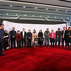 عکس جشنواره ای فیلم سینمایی خانهای در خیابان چهل و یکم با حضور سهیلا رضوی، علیرضا کمالی، حمیدرضا قربانی، سید محمود رضوی و سارا بهرامی