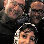 تصویری شخصی از هدایت هاشمی، بازیگر سینما و تلویزیون به همراه رامبد جوان