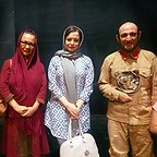 هدایت هاشمی، بازیگر سینما و تلویزیون - عکس مراسم خبری به همراه آزیتا حاجیان و مهراوه شریفینیا