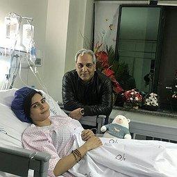 عیادت هنرمندان از الناز شاکردوست در بیمارستان