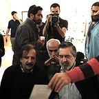 پشت صحنه فیلم سینمایی ایستاده در غبار با حضور مجید مجیدی و محمدحسین مهدویان
