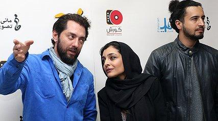 بهرام رادان و ساره بیات در اکران مردمی فیلم جدیدشان