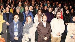 اصغر فرهادی و همسرش در اکران «خانه ای در خیابان چهل و یکم»