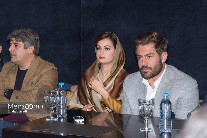 دیا میرزا و محمدرضا گلزار در  نشست خبری فیلم سلام بمبئی + تصاویر