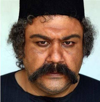 گریم مهران غفوریان در فیلم آتش و قداره
