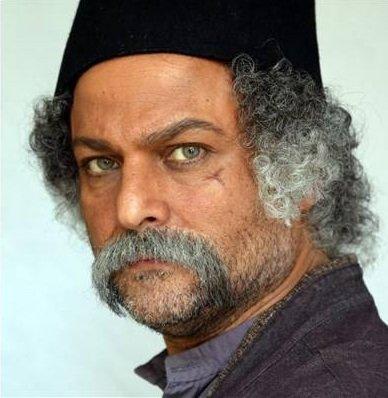 گریم حسین یاری در فیلم آتش و قداره