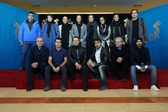 تصاویری از بازیگران و عوامل «خانه دیگری» در جشنواره فجر