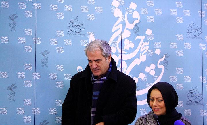 ناصر هاشمی به همراه بهنوش صادقی در نشست خبری «خانه دیگری»