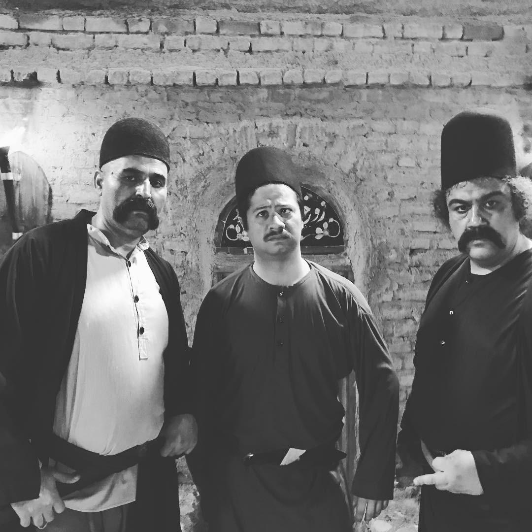 مهران غفوریان، علی مشدی و علی صادقی در فیلم اتش و قداره
