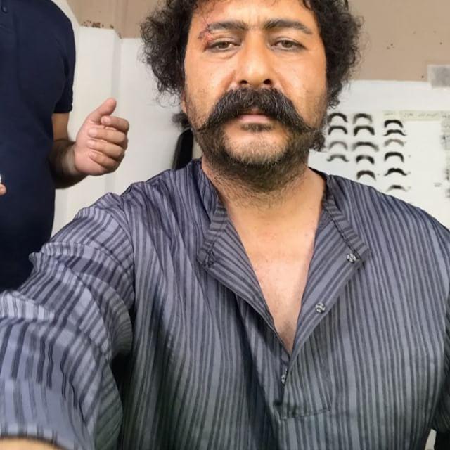 گریم امیرحسین صدیق در فیلم آتش و قداره
