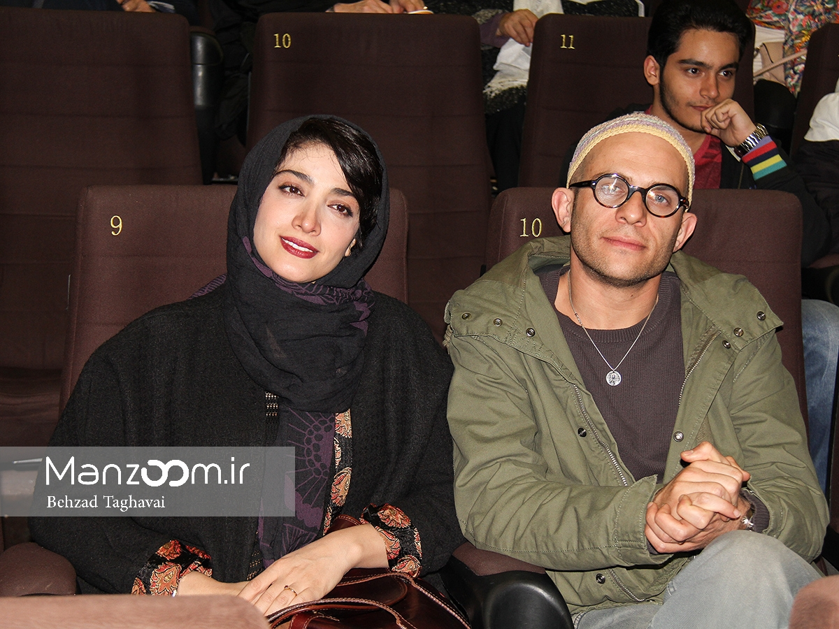 زوج بابک حمیدیان و مینا ساداتی در اکران مردمی «لاک قرمز»