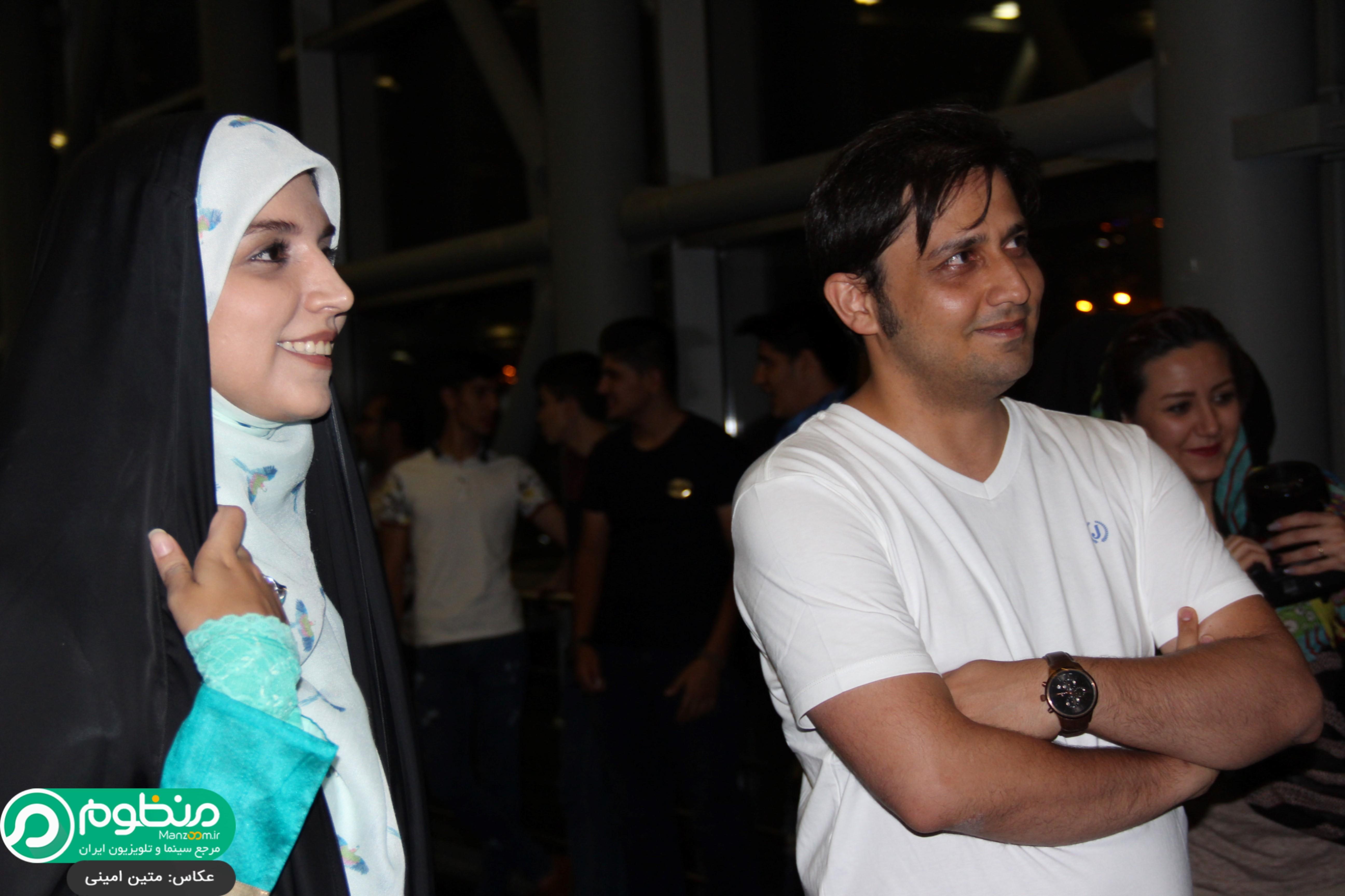 محمدرضا خردمندان و مژده لواسانی در افتتاحیه فیلم 21 روز بعد
