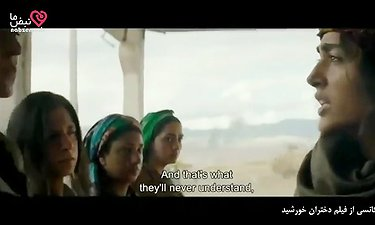سکانسی از فیلم دختران خورشید با بازی گلشیفته فراهانی