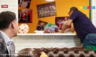 آموزش فوتبال به رامبد توسط مجید نامجو مطلق در خندوانه
