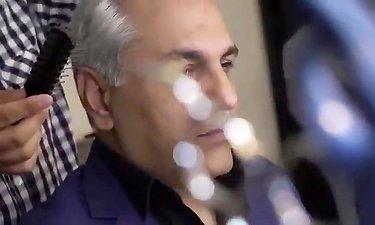 ویدئو از تست گریم اولیه مهران مدیری برای فیلم رحمان1400