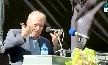 """صحبت های """"علی نصیریان"""" در مراسم تشییع عزت الله انتظامی"""