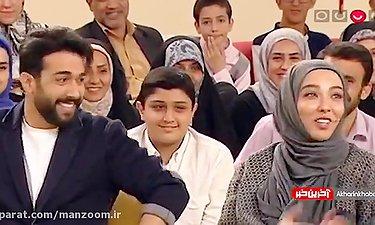 """وقتی """"حسین مهری"""" با تقلید صدای حامد بهداد، رامبد جوان را سر کار می گذا"""