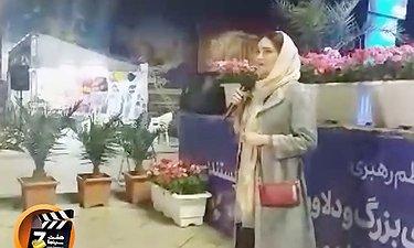 ویدیویی از حضور بازیگران فیلم سینمایی «تختی» در ایستگاه